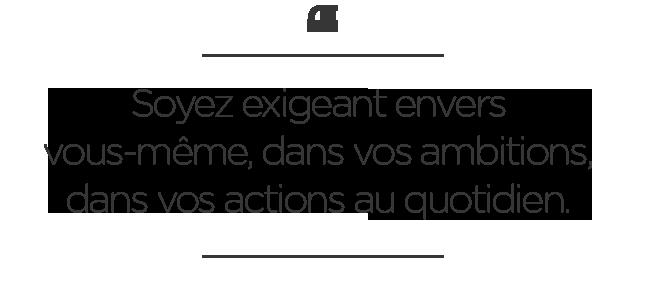 Soyez exigeant - Fabrice Sawegnon